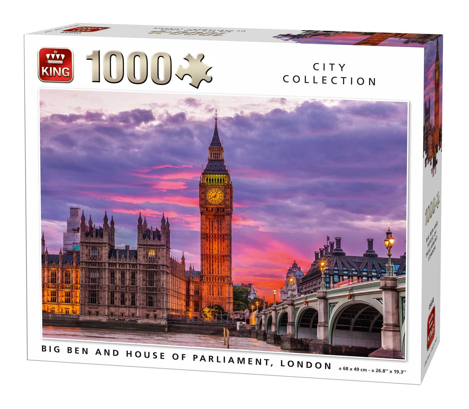 King Big Ben and Houses of Parliament London Jigsaw Puzzle (1000 Pieces)