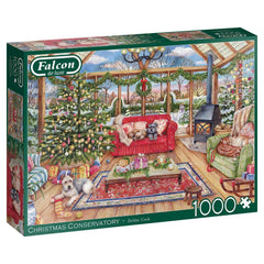 Falcon Deluxe The Christmas Conservatory Jigsaw Puzzle (1000 Pieces)