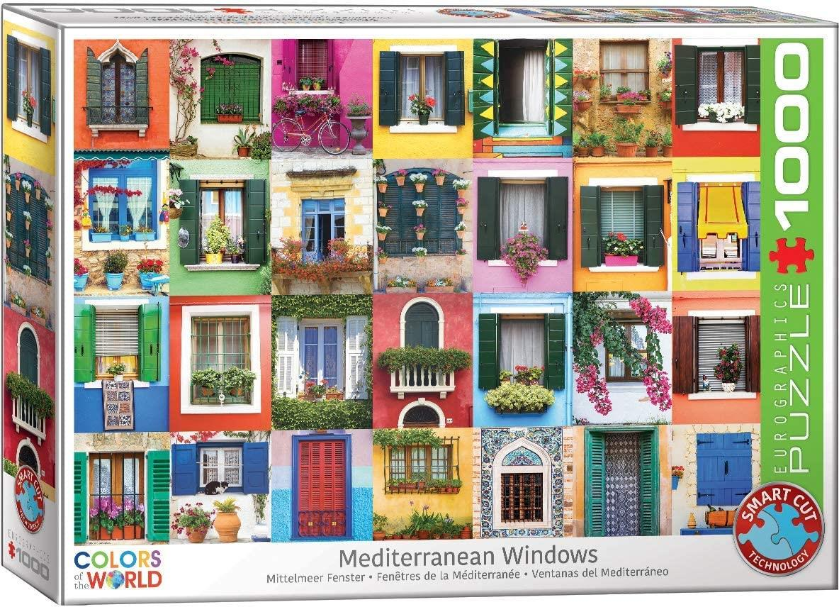 Eurographics Mediterranean Windows Jigsaw Puzzle (1000 Pieces)
