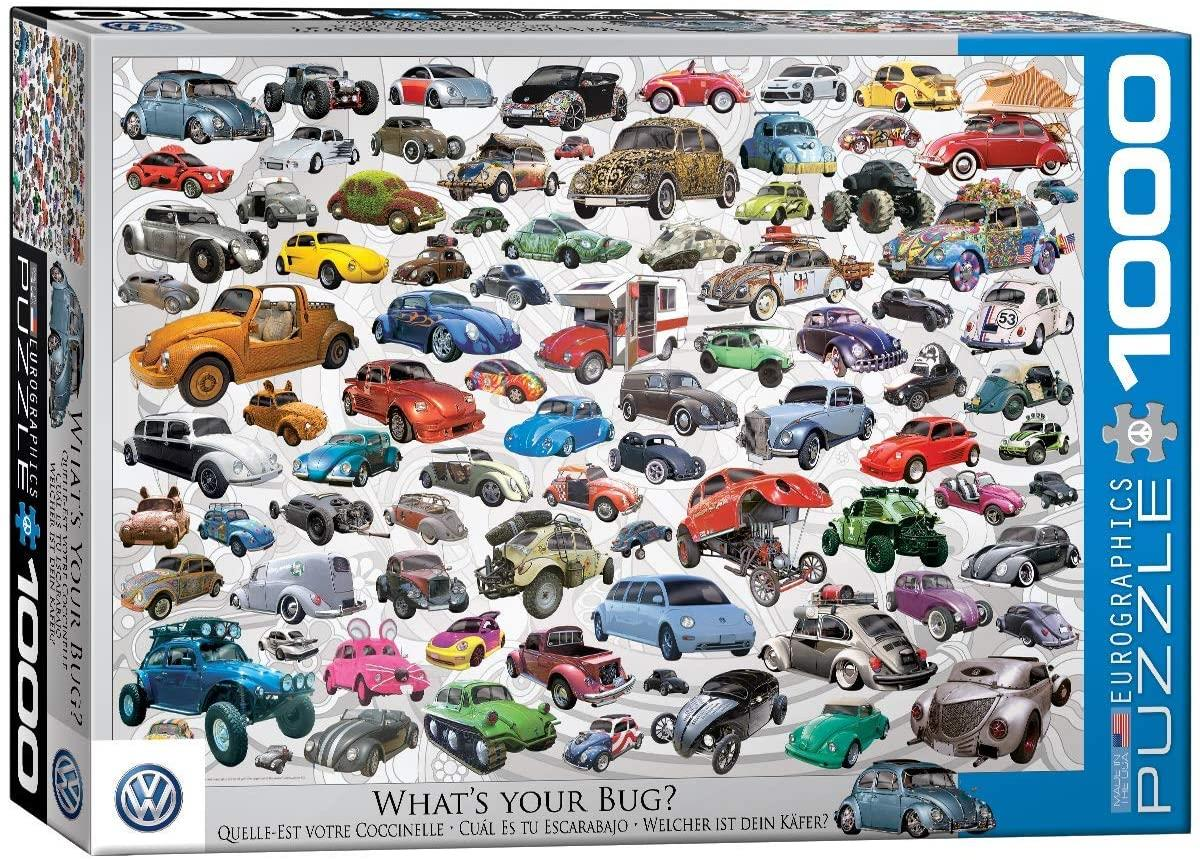 Eurographics VW Beetle What's Your Bug? Jigsaw Puzzle (1000 Pieces)
