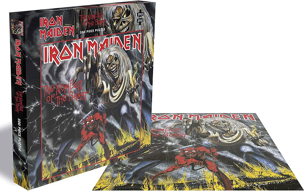 Iron Maiden The Number Of The Beast Jigsaw Puzzle (500 Pieces)