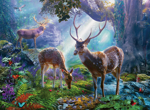 Ravensburger Deer in the Wild Jigsaw Puzzle (500 Pieces)