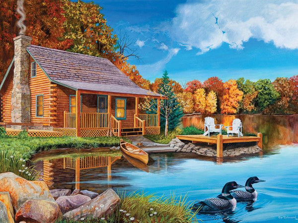 Cobble Hill Loon Lake Jigsaw Puzzle (500 Pieces)