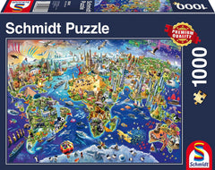 Schmidt Discover The World Jigsaw Puzzle (1000 Pieces)