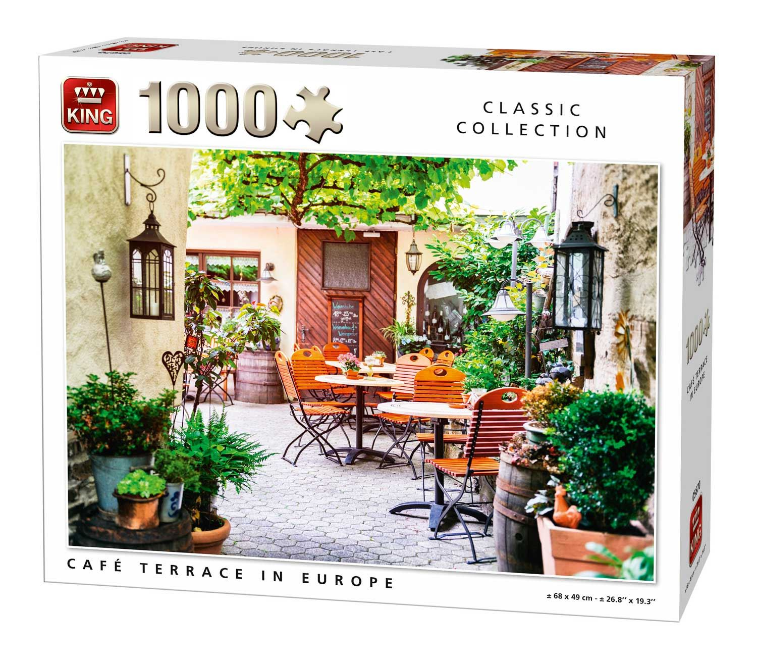 King Cafe Terrace In Europe Jigsaw Puzzle (1000 Pieces)