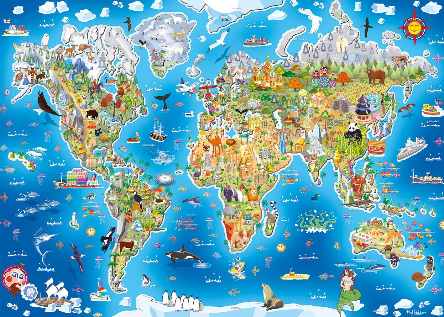 Gibsons Jigmap Jigsaw Puzzle - Our World (250 pieces)