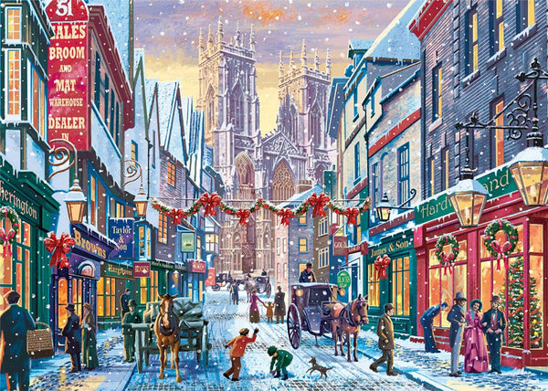 Falcon Deluxe Christmas in York Jigsaw Puzzle (1000 Pieces)