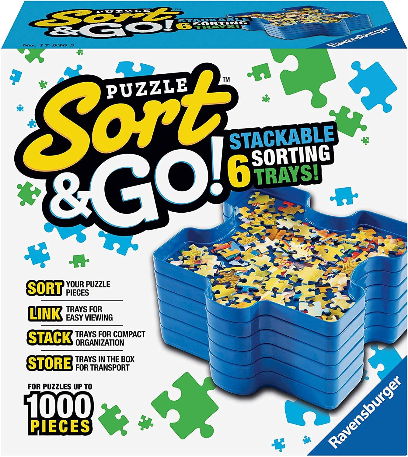 Ravensburger Sort & Go! Stackable Puzzle Sorting Trays