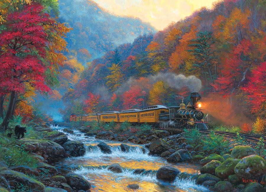 Cobble Hill Smoky Train Jigsaw Puzzle (1000 Pieces)