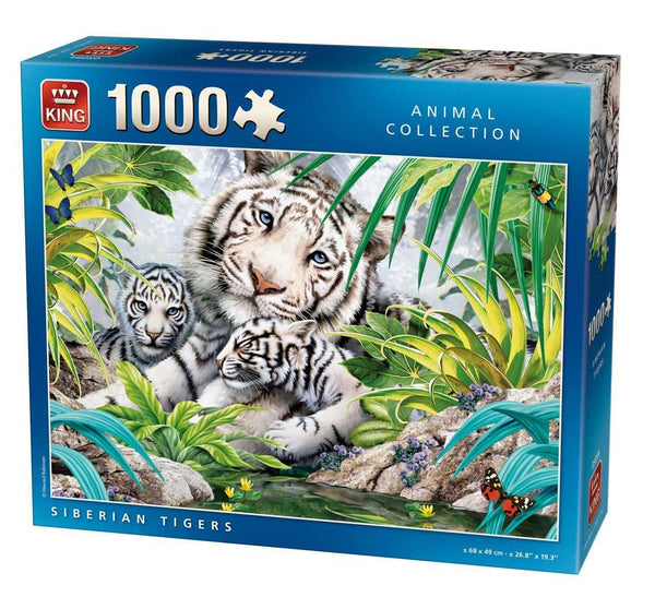 King Siberian Tiger Jigsaw Puzzle (1000 Pieces)