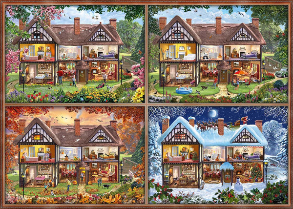 Schmidt House of Four Seasons Jigsaw Puzzle (2000 pieces)