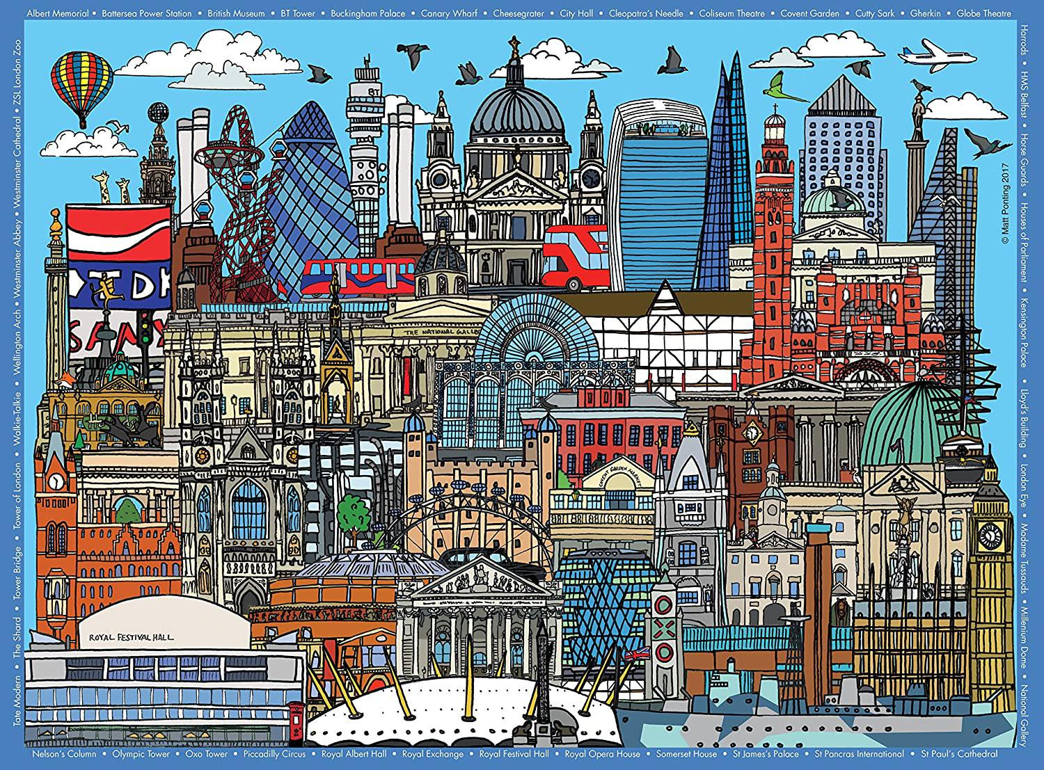 Ravensburger Doodling Around London LandmarksJigsaw Puzzle (500 Pieces)