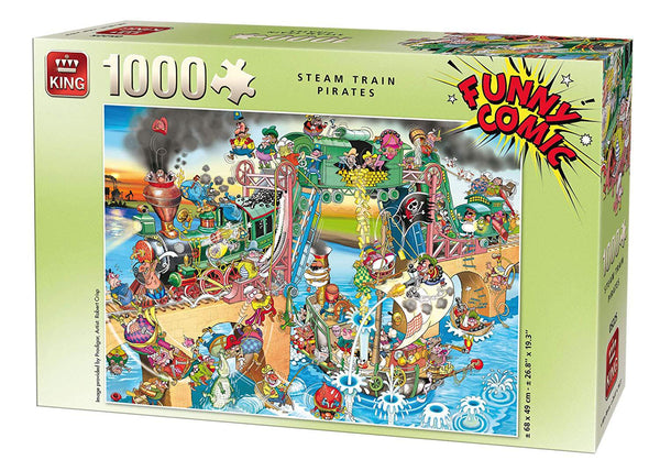 King Steam Train Pirates Jigsaw Puzzle (1000 Pieces)
