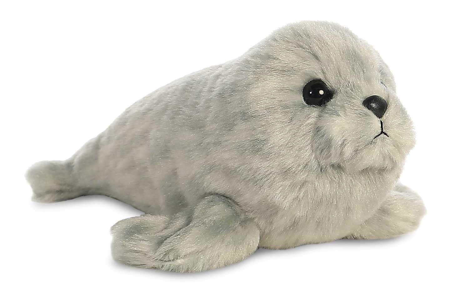 Aurora Mini Flopsies - Harbour Seal Soft Toy 20cm