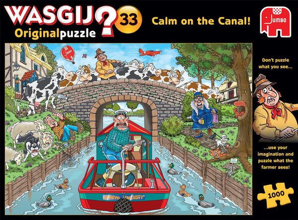 Wasgij Original 33 Calm on the Canal Jigsaw Puzzle (1000 Pieces)