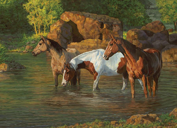 Cobble Hill Horse Pond Jigsaw Puzzle (500 Pieces)