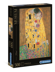 Clementoni Great Museum The Kiss, Klimt High Quality Jigsaw Puzzle (500 Pieces)