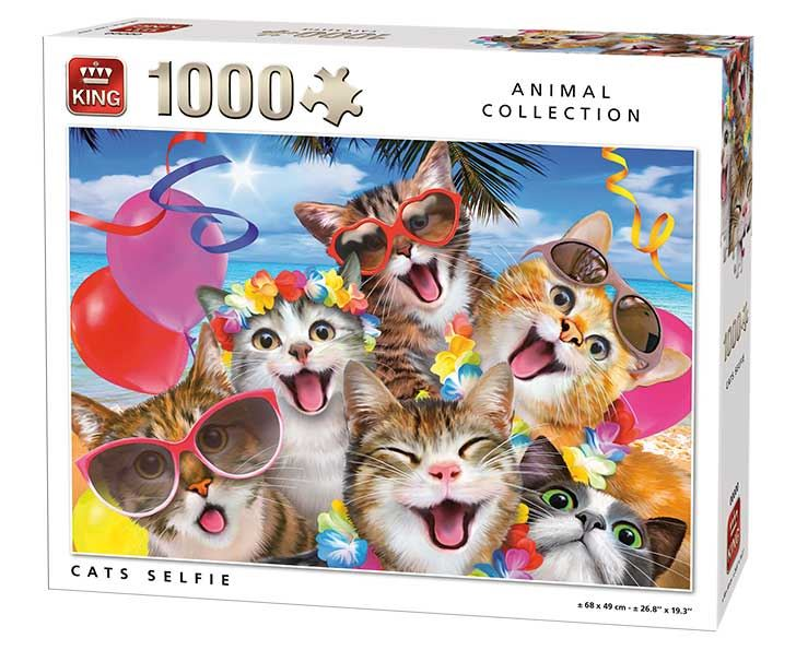 King Cats Selfies Jigsaw Puzzle (1000 Pieces)