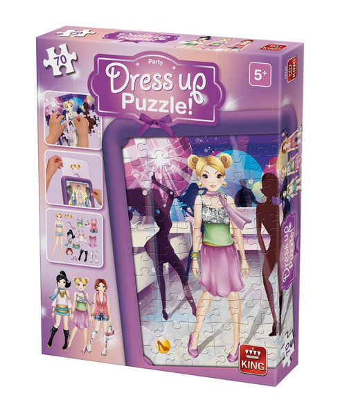 King Dress Up Party Jigsaw Puzzle (70 Pieces)