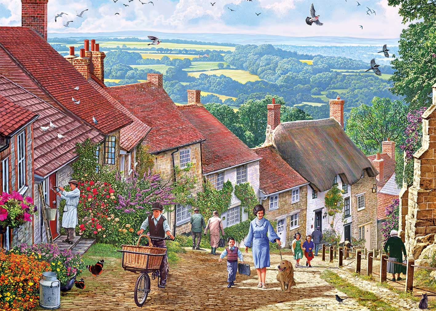 Gibsons Gold Hill Jigsaw Puzzle (1000 pieces)