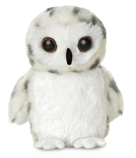 Aurora Mini Flopsies - Snowy Owl Soft Toy 20cm