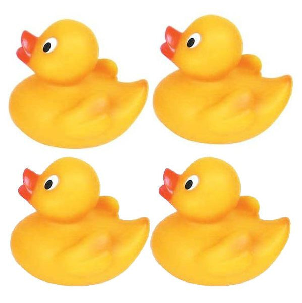 24 Squeezy Rubber Ducks 5cm - Yellow