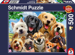 Schmidt Dog Selfie Jigsaw Puzzle (500 Pieces)