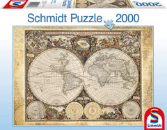 Schmidt Historical Map of The World Jigsaw Puzzle (2000 Pieces)