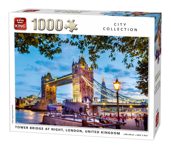 King Tower Bridge at Night, London Jigsaw Puzzle (1000 Pieces)