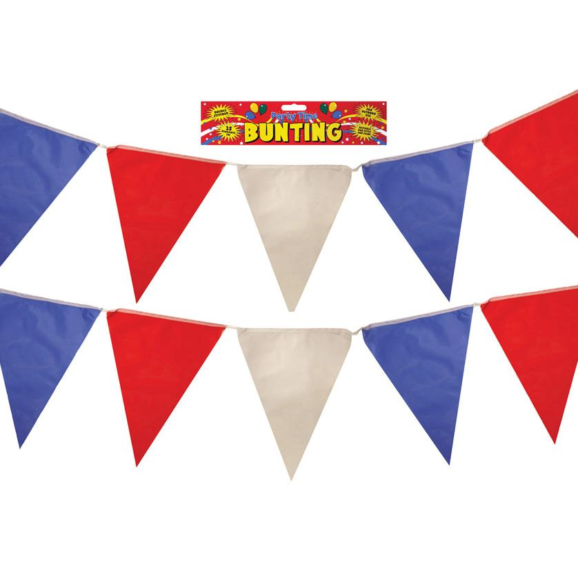 Red, White and Blue Nylon Bunting 7m