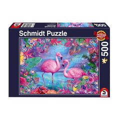 Schmidt Flamingos Jigsaw Puzzle (500 Pieces)