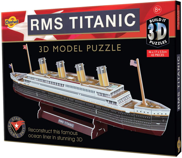 Build Your Own 3D Puzzle Model Kit - RMS Titanic (35 Pieces)