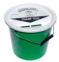 Charity Collection Bucket with Lid - 5.7 Litres