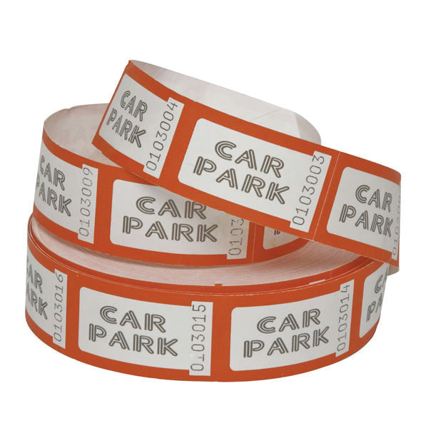 Roll of 1000 Car Park Tickets