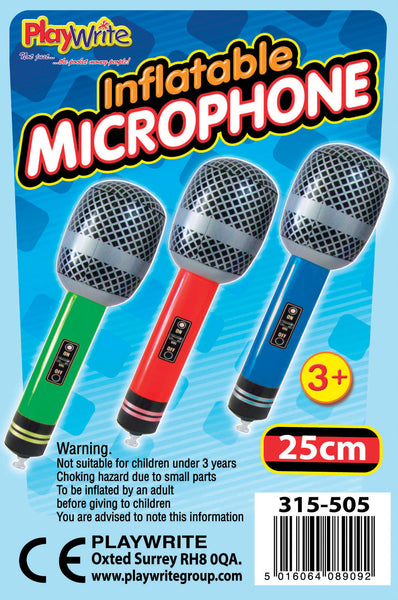 12 Inflatable Microphones 25cm
