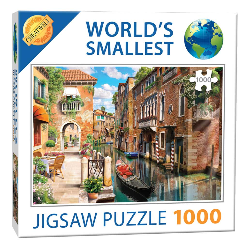 World's Smallest 1000 Piece Jigsaw Puzzle - Venetian Canals (1000 Pieces)