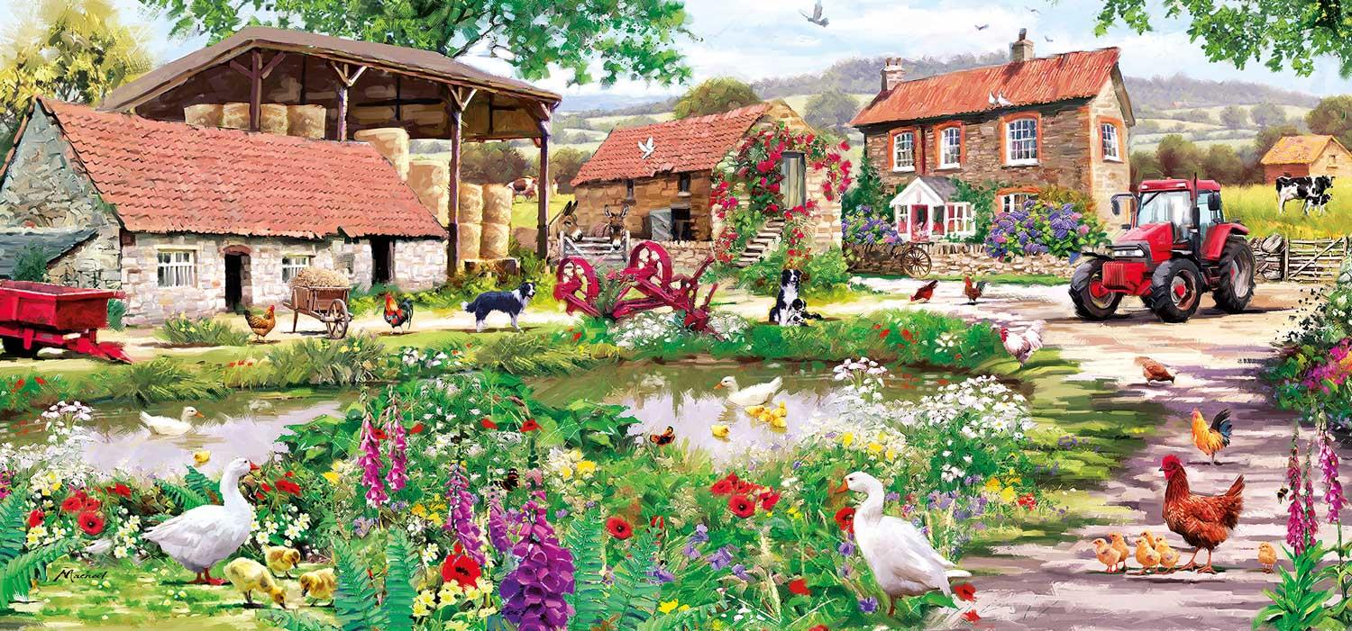 Gibsons Duckling Farm Jigsaw Puzzle (636 Pieces)