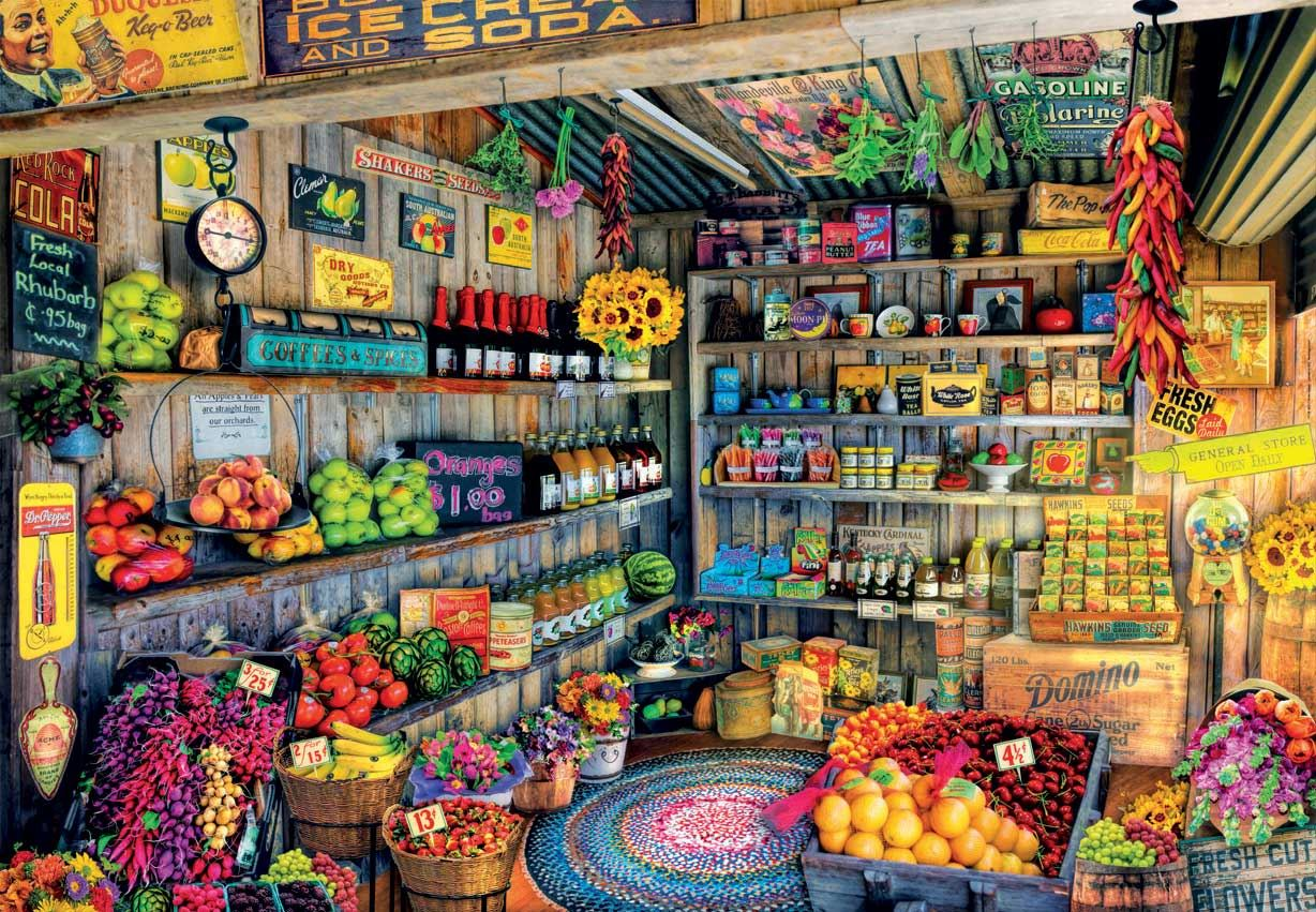 Educa The Farmers Market Jigsaw Puzzle (2000 Pieces)