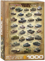 Eurographics World War II Tanks Jigsaw Puzzle (1000 Pieces)