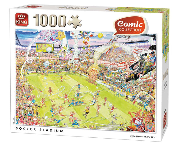 King Soccer Stadium Jigsaw Puzzle (1000 Pieces)