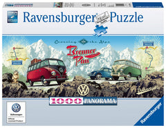Ravensburger Cross the Alps with VW! Panoramic Jigsaw Puzzle (1000 Pieces)