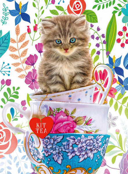 Ravensburger Teacup Kitty Jigsaw Puzzle (500 Pieces)