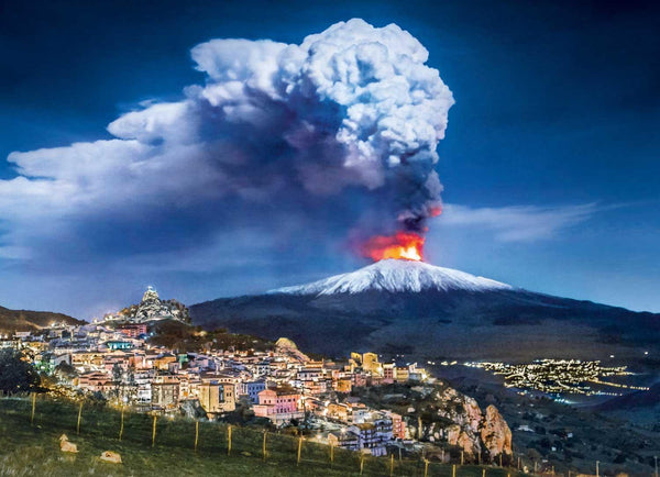 Clementoni Mount Etna High Quality Jigsaw Puzzle (1000 Pieces)