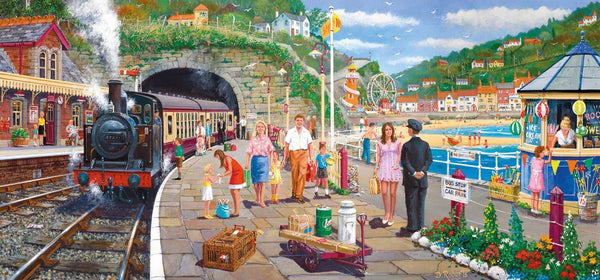 Gibsons Seaside Train Jigsaw Puzzle (636 Pieces)
