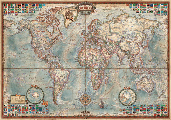 Educa Political Map Of The World Jigsaw Puzzle (1500 Pieces)