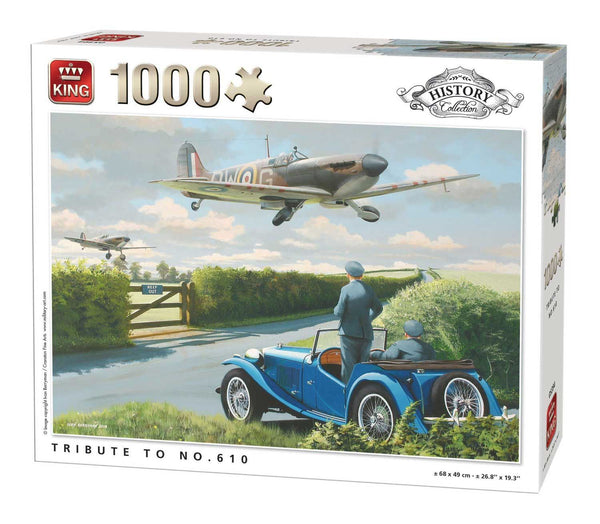 King Tribute To No. 610 Plane Jigsaw Puzzle (1000 Pieces)