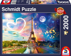 Schmidt Paris Day and Night Jigsaw Puzzle (2000 Pieces)