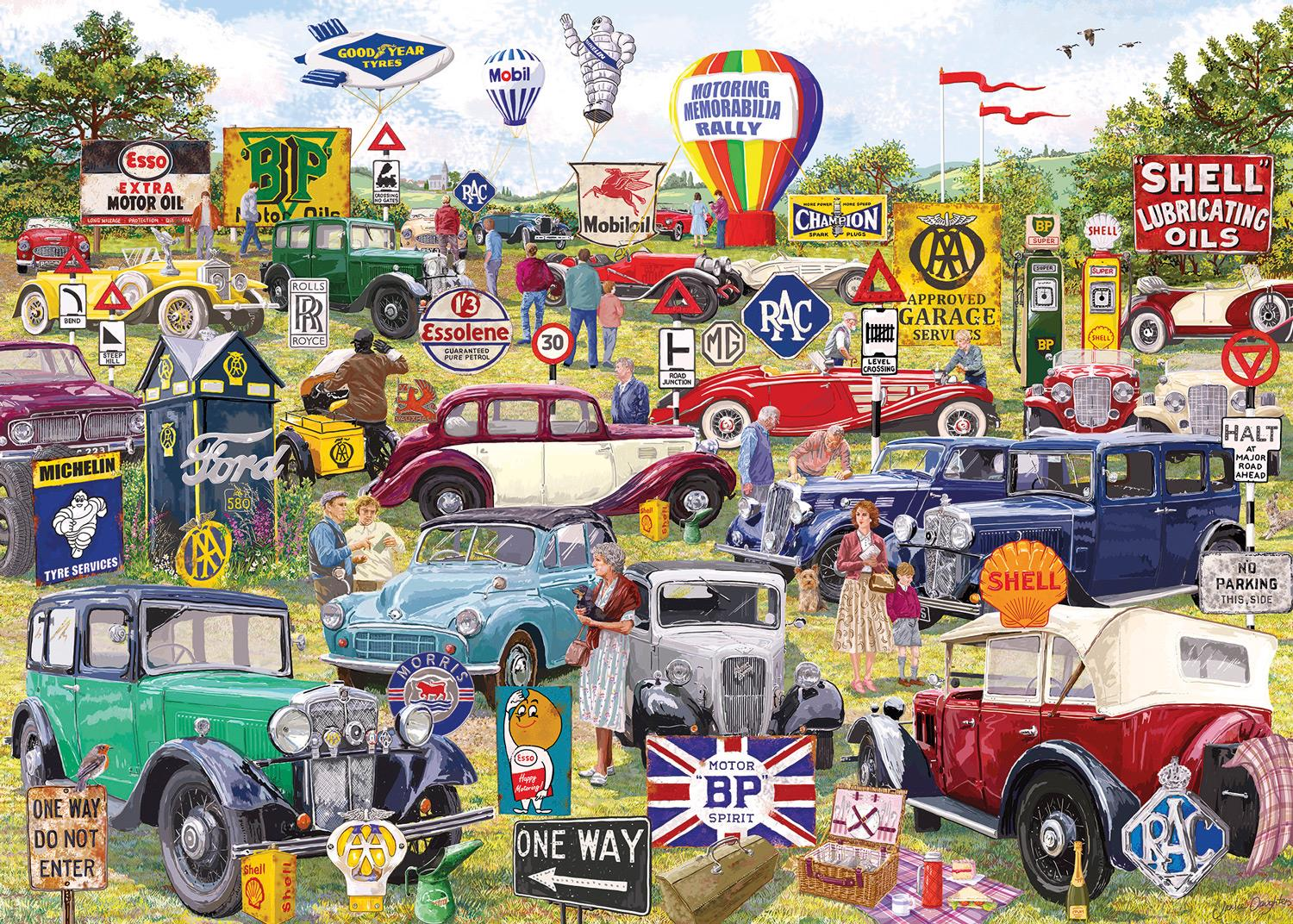 Gibsons Motoring Memorabilia Jigsaw Puzzle (1000 Pieces)
