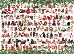 Eurographics Holiday Dogs Jigsaw Puzzle (1000 Pieces)