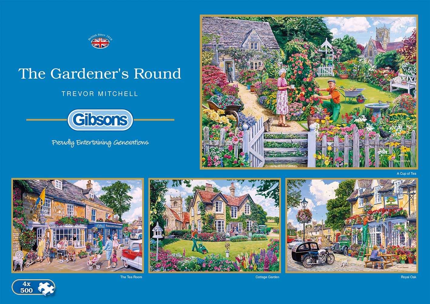 Gibsons The Gardener's Round Jigsaw Puzzle (4 x 500 pieces)